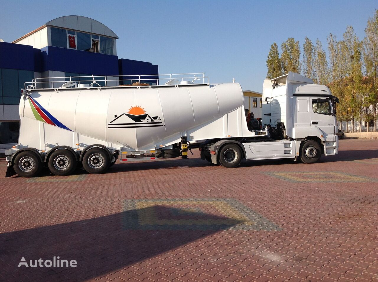 new ALIM 34 MT3 V TYPE CEMENT TRAILER  cement tank trailer