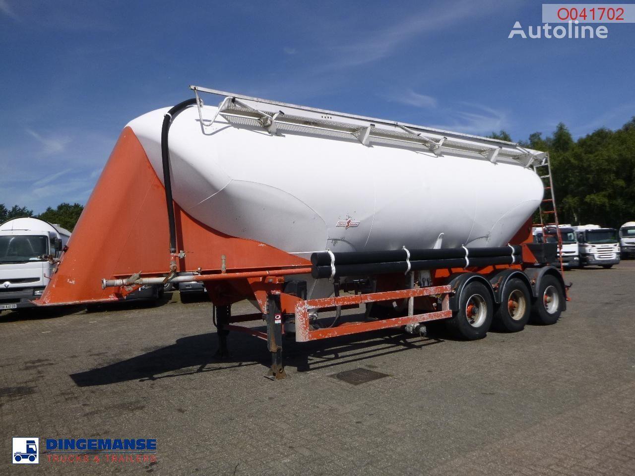 SPITZER Powder tank alu 39 m3 / 1 comp cement tank trailer