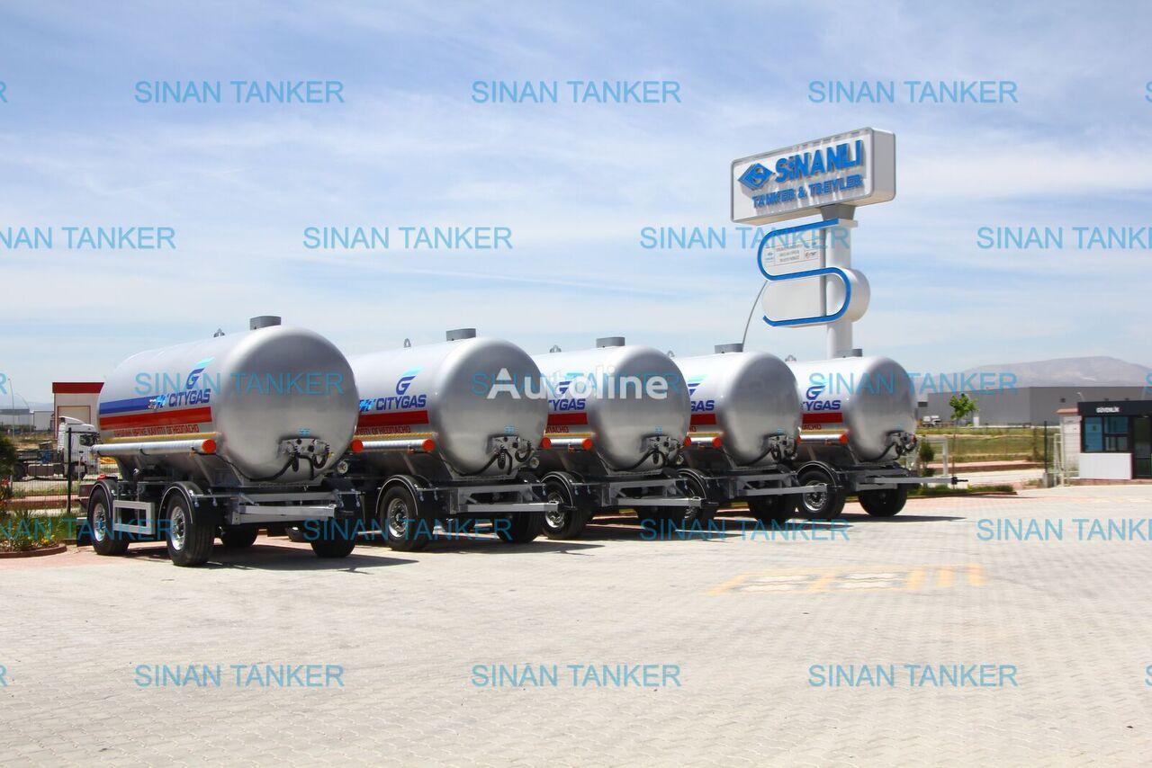 new SINAN TANKER-TREYLER LPG tanker Trailer- Gazovoz gas tank trailer
