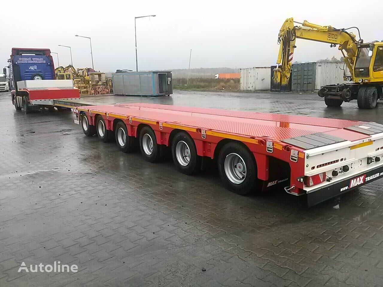 new MAX Trailer MAX100-N-6A-9.30 low bed semi-trailer