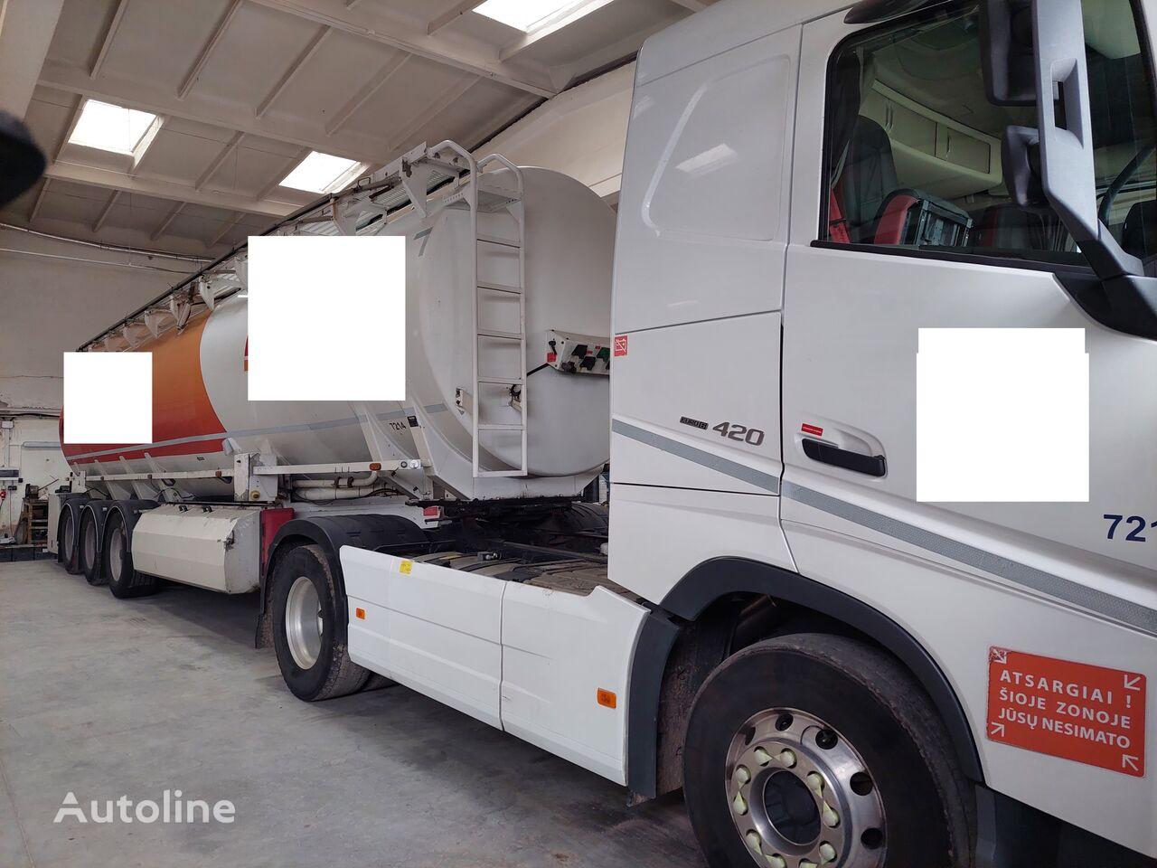 VOLVO FH12 420+ CISTERNA WILLIG tractor unit + fuel tank trailer