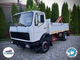 MERCEDES-BENZ NG 1417 - LEAF SUSPENSION + CRANE ATLAS flatbed truck