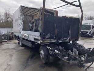 damaged MERCEDES-BENZ Atego 1224 Pritsche Plane LBW Brandschaden tilt truck
