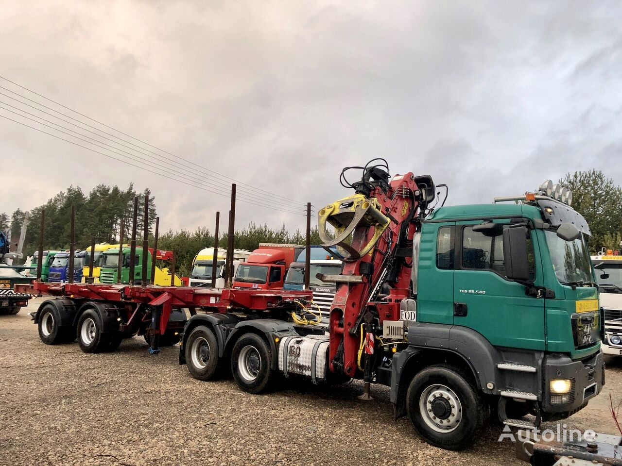 MAN TGS 26.540 KM 6x6 hydrodrive LOGLIFT 265 ZT do drewna timber truck